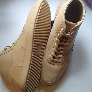 Clae Men's Tan Leather Sneaker